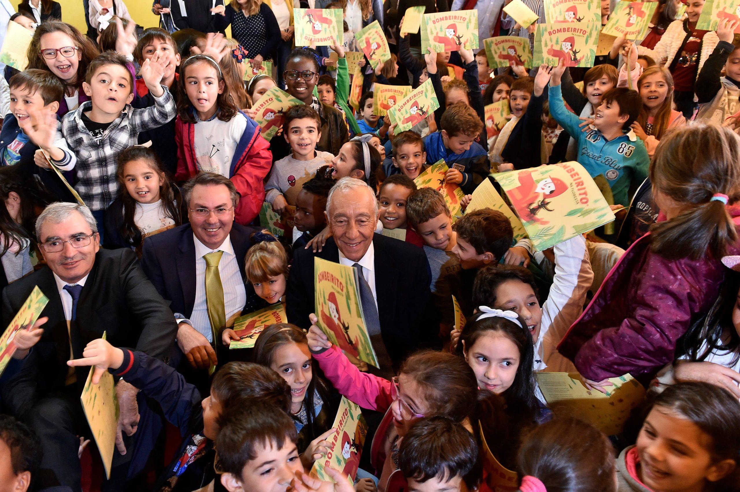 Presidente da República Portuguesa, Professor Doutor Marcelo Rebelo de Sousa no Centro Escolar de Nelas. Outubro,2018. © Nuno André Ferreira
